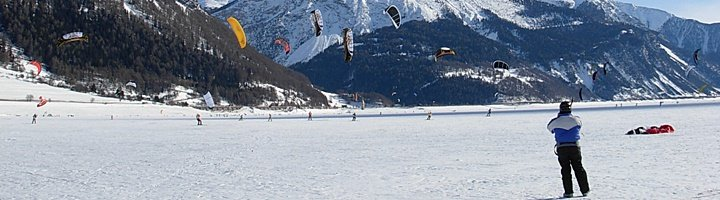 Snowkite Spot Reschensee by Cross-Wind.ch